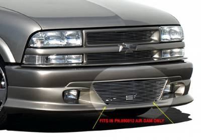 Grilles - Custom Fit Grilles - Wings West - Chevrolet S10 Wings West Brushed Lower Billet Grille - 302007L