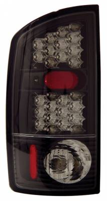 Headlights & Tail Lights - Led Tail Lights - Anzo - Dodge Ram Anzo LED Taillights - Black - 311018