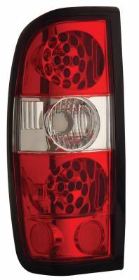 Headlights & Tail Lights - Led Tail Lights - Anzo - Nissan Frontier Anzo LED Taillights - Red & Clear - 311031