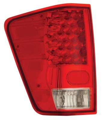 Headlights & Tail Lights - Led Tail Lights - Anzo - Nissan Titan Anzo LED Taillights - Red & Clear - 311037