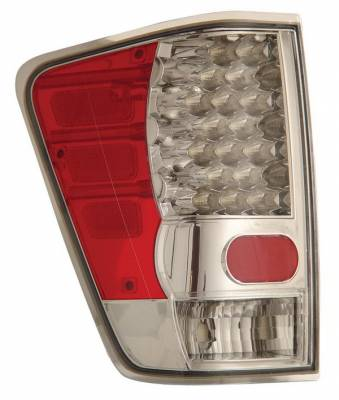 Headlights & Tail Lights - Led Tail Lights - Anzo - Nissan Titan Anzo LED Taillights - Chrome - 311038