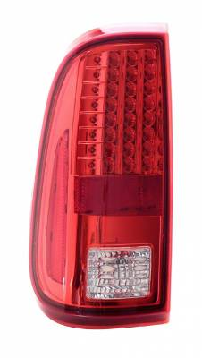 Headlights & Tail Lights - LED Tail Lights - Anzo - Ford F250 Anzo LED Taillights - Red & Clear - 311050