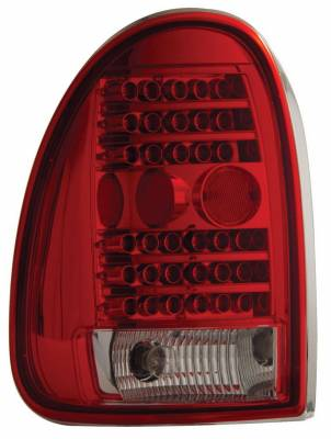 Headlights & Tail Lights - Led Tail Lights - Anzo - Plymouth Voyager Anzo LED Taillights - Red & Clear - 311056