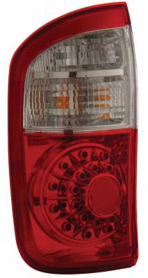 Headlights & Tail Lights - Led Tail Lights - Anzo - Toyota Tundra Anzo LED Taillights - Red & Clear - 311060