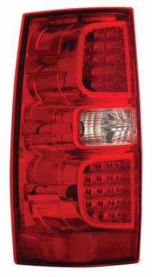 Headlights & Tail Lights - Led Tail Lights - Anzo - Chevrolet Tahoe Anzo LED Taillights - Red & Clear - 311062