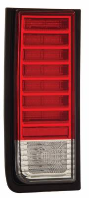 Headlights & Tail Lights - Led Tail Lights - Anzo - Hummer H2 Anzo LED Taillights - Red & Clear - 311068
