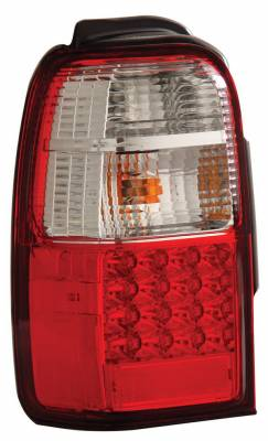 Headlights & Tail Lights - Led Tail Lights - Anzo - Toyota 4Runner Anzo LED Taillights - Red & Clear - 311070