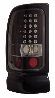 Headlights & Tail Lights - Led Tail Lights - Anzo - Dodge Ram Anzo LED Taillights - Black - 311073