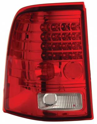 Headlights & Tail Lights - Led Tail Lights - Anzo - Mercury Mountaineer Anzo LED Taillights - Red & Clear - 311074