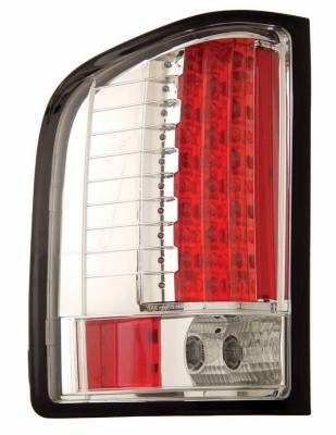 Headlights & Tail Lights - Led Tail Lights - Anzo - Chevrolet Silverado Anzo LED Taillights - Chrome - 311080