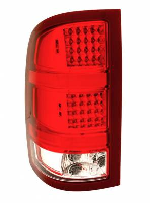 Headlights & Tail Lights - Led Tail Lights - Anzo - GMC Sierra Anzo LED Taillights - Red & Clear - 311089