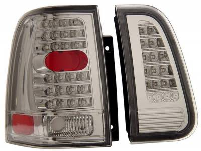 Headlights & Tail Lights - Led Tail Lights - Anzo - Lincoln Navigator Anzo LED Taillights - Chrome - 4PC - 311096