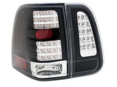 Headlights & Tail Lights - Led Tail Lights - Anzo - Lincoln Navigator Anzo LED Taillights - Black - 4PC - 311097