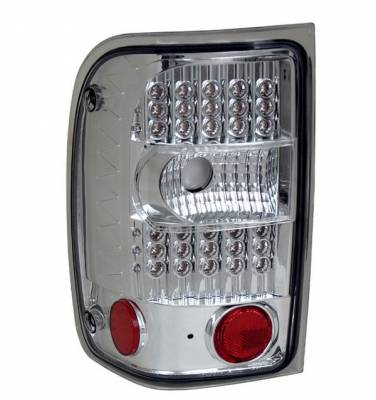 Headlights & Tail Lights - LED Tail Lights - Anzo - Ford Ranger Anzo LED Taillights - G2 - Chrome - 311106