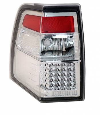 Headlights & Tail Lights - Led Tail Lights - Anzo - Ford Expedition Anzo LED Taillights - All Chrome - 311109