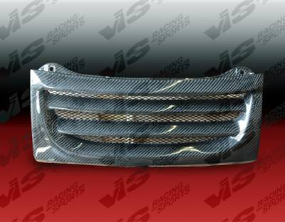 Grilles - Custom Fit Grilles - VIS Racing - Nissan 300Z VIS Racing Demon Carbon Fiber Front Center Grille - 90NS3002DDEM-015C
