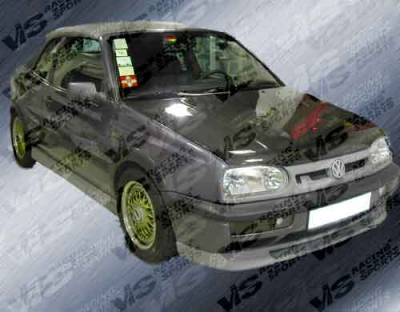 Grilles - Custom Fit Grilles - VIS Racing - Volkswagen Golf VIS Racing Rabiat Front Grille - Fiberglass - 93VWGOF2DRAB-015