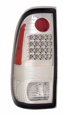 Headlights & Tail Lights - LED Tail Lights - Anzo - Ford F250 Anzo LED Taillights - G2 - All Chrome - 311112