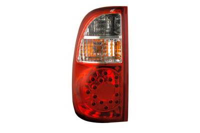 Headlights & Tail Lights - Led Tail Lights - Anzo - Toyota Tundra Anzo LED Taillights - Red & Clear - 311117