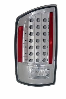 Headlights & Tail Lights - Led Tail Lights - Anzo - Dodge Ram Anzo LED Taillights - Chrome - 311122