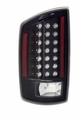 Headlights & Tail Lights - Led Tail Lights - Anzo - Dodge Ram Anzo LED Taillights - Black - 311123