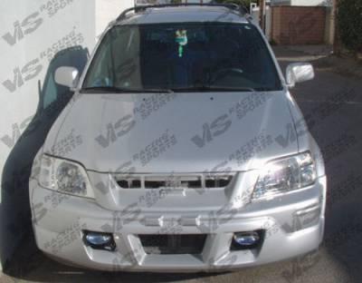 Grilles - Custom Fit Grilles - VIS Racing - Honda CRV VIS Racing Techno R Front Grille - Fiberglass - 97HDCRV4DTNR-015