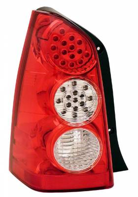 Headlights & Tail Lights - Led Tail Lights - Anzo - Mazda Tribute Anzo LED Taillights - Red & Clear - 311129