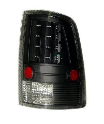 Headlights & Tail Lights - Led Tail Lights - Anzo - Dodge Ram Anzo LED Taillights - Black - 311144