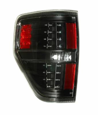 Headlights & Tail Lights - Led Tail Lights - Anzo - Ford F150 Anzo LED Taillights - Black - 311145