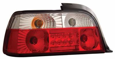 Headlights & Tail Lights - Led Tail Lights - Anzo - BMW 3 Series 2DR Anzo LED Taillights - Red & Clear - 321002