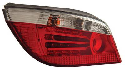 Headlights & Tail Lights - Led Tail Lights - Anzo - BMW 5 Series Anzo LED Taillights - Red & Clear - 321006