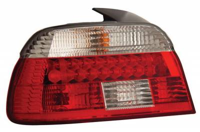 Headlights & Tail Lights - Led Tail Lights - Anzo - BMW 5 Series Anzo LED Taillights - Red & Clear - 321007