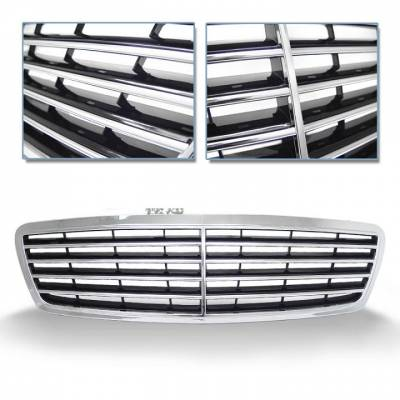 Grilles - Custom Fit Grilles - Vert - W203 OEM Style Chrome Grille