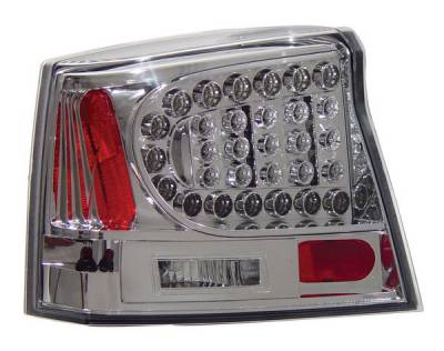 Headlights & Tail Lights - Led Tail Lights - Anzo - Dodge Charger Anzo LED Taillights - Chrome - 321013
