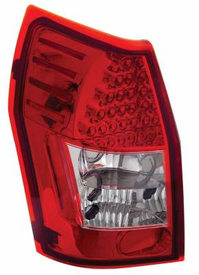 Headlights & Tail Lights - Led Tail Lights - Anzo - Dodge Magnum Anzo LED Taillights - Red & Clear - 321015