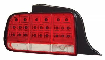 Headlights & Tail Lights - Led Tail Lights - Anzo - Ford Mustang Anzo LED Taillights - Red & Clear - 321018
