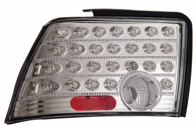 Headlights & Tail Lights - Led Tail Lights - Anzo - Ford Mustang Anzo LED Taillights - Chrome - 321025