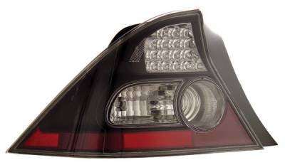 Headlights & Tail Lights - Led Tail Lights - Anzo - Honda Civic 2DR Anzo LED Taillights - Black - 321035