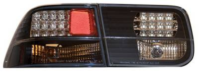 Headlights & Tail Lights - Led Tail Lights - Anzo - Honda Civic 2DR Anzo LED Taillights - Black - 321041