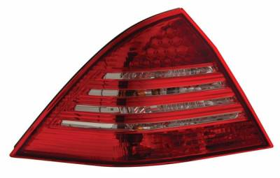 Headlights & Tail Lights - Led Tail Lights - Anzo - Mercedes-Benz C Class Anzo LED Taillights - Crystal Lens - Red & Clear - 321047