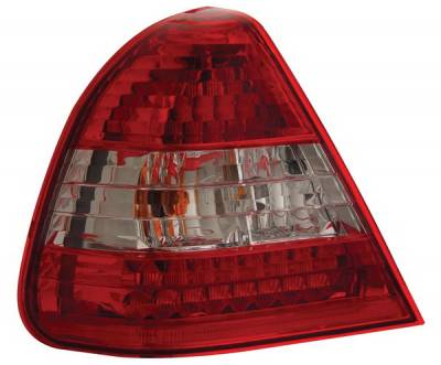 Headlights & Tail Lights - Led Tail Lights - Anzo - Mercedes-Benz C Class Anzo LED Taillights - Crystal Lens - Red & Clear - 321049
