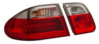Headlights & Tail Lights - Led Tail Lights - Anzo - Mercedes-Benz E Class Anzo LED Taillights - Red & Clear - 321052