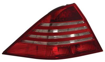 Headlights & Tail Lights - Led Tail Lights - Anzo - Mercedes-Benz S Class Anzo LED Taillights - Red & Clear - 321055
