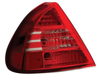 Headlights & Tail Lights - Led Tail Lights - Anzo - Mitsubishi Mirage Anzo LED Taillights - Red & Clear - 321058