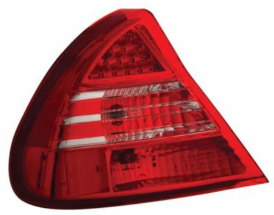 Headlights & Tail Lights - Led Tail Lights - Anzo - Mitsubishi Mirage Anzo LED Taillights - Red & Clear - 321059