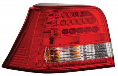 Headlights & Tail Lights - Led Tail Lights - Anzo - Volkswagen Golf Anzo LED Taillights - Red & Clear - 321063