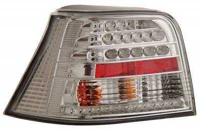 Headlights & Tail Lights - Led Tail Lights - Anzo - Volkswagen Golf Anzo LED Taillights - Chrome - 321064