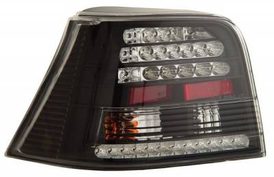 Headlights & Tail Lights - Led Tail Lights - Anzo - Volkswagen Golf Anzo LED Taillights - Black - 321065