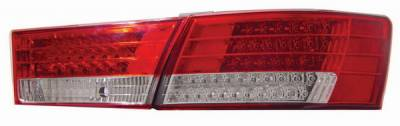 Headlights & Tail Lights - Led Tail Lights - Anzo - Hyundai Sonata Anzo LED Taillights - Red & Clear - 321068