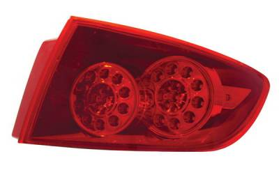 Headlights & Tail Lights - Led Tail Lights - Anzo - Mazda 3 4DR Anzo LED Taillights - Red - 321076